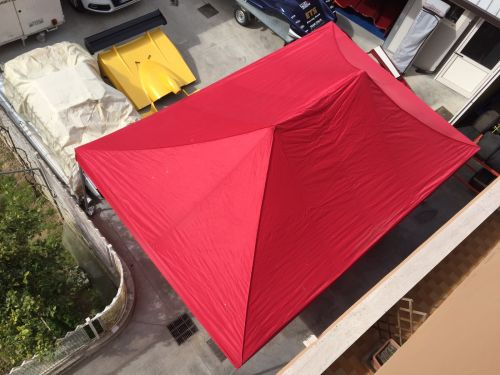 Expo tent 6 x 4 red, 2 tent