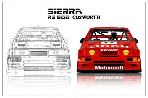 Sierra touring car Lexan window kit