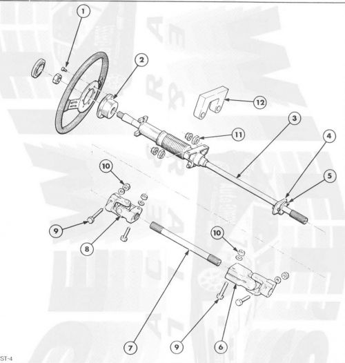 Ford Motorsport Escort Cosworth steering column