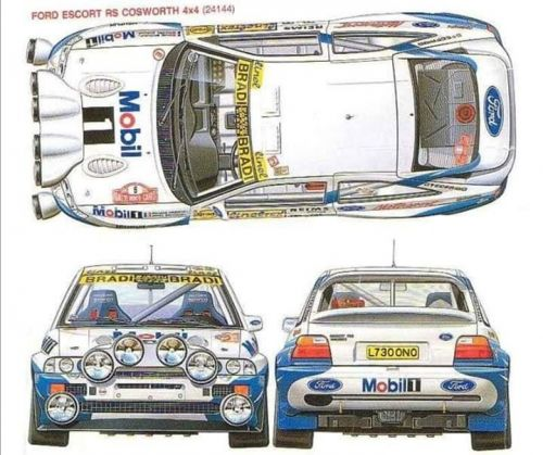909 cosworth escort lamp pods