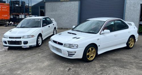 Mitsubishi RS and Subaru STi