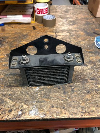 """GPA Cosworth 9"""" rear diff oil cooler and bracket"""
